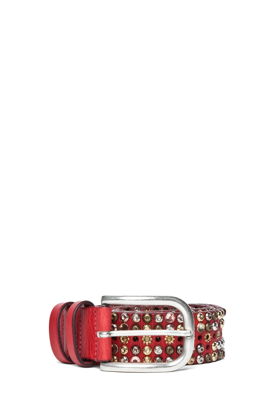 Image 1 of Isabel Marant Cecile Elvis Belt in Red
