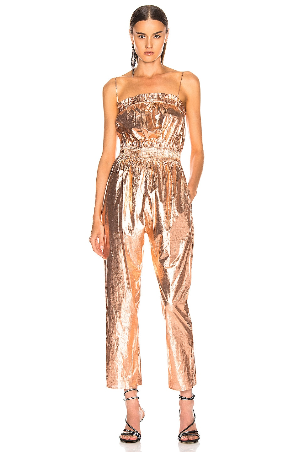 Image 2 of Isabel Marant Timi Overall in Rosegold