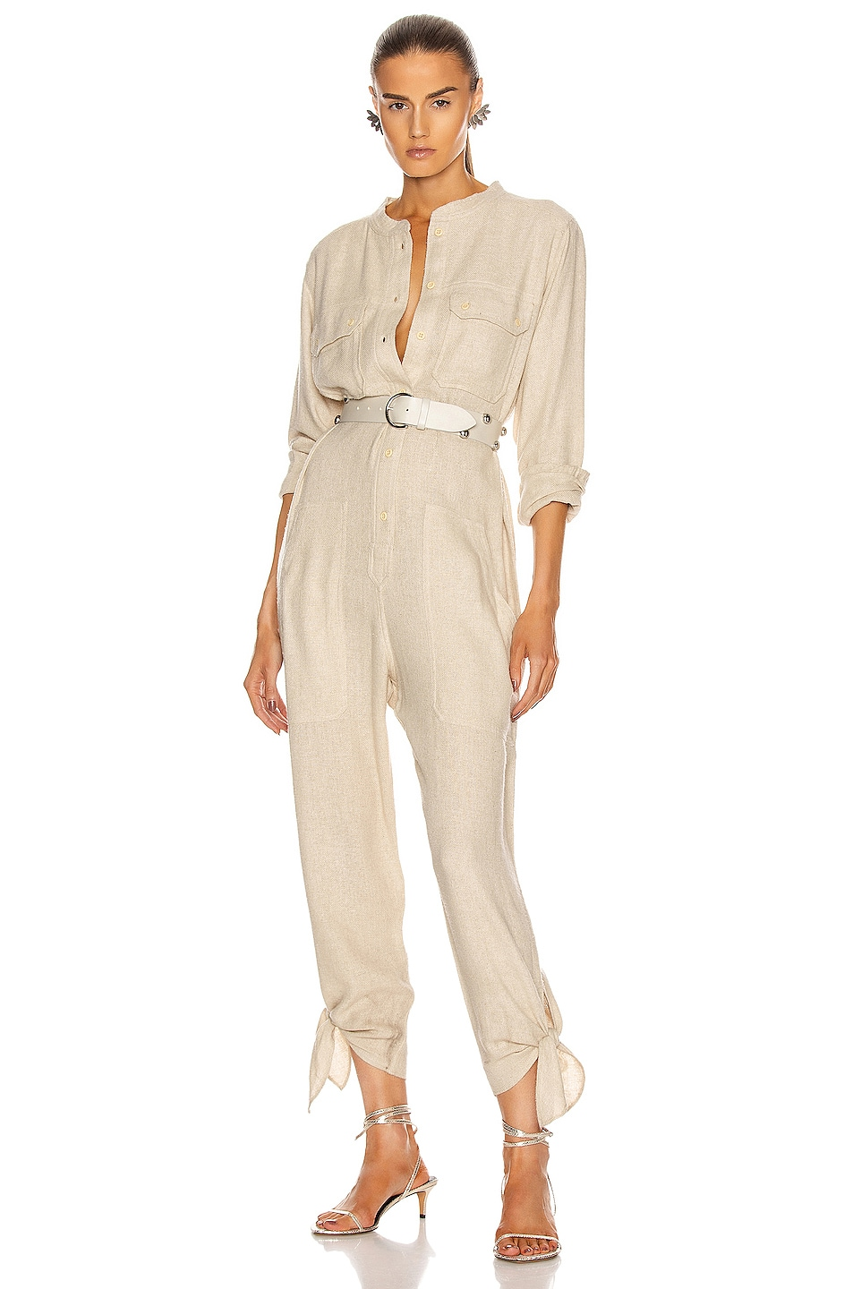 Image 1 of Isabel Marant Tacaia Overall in Ecru