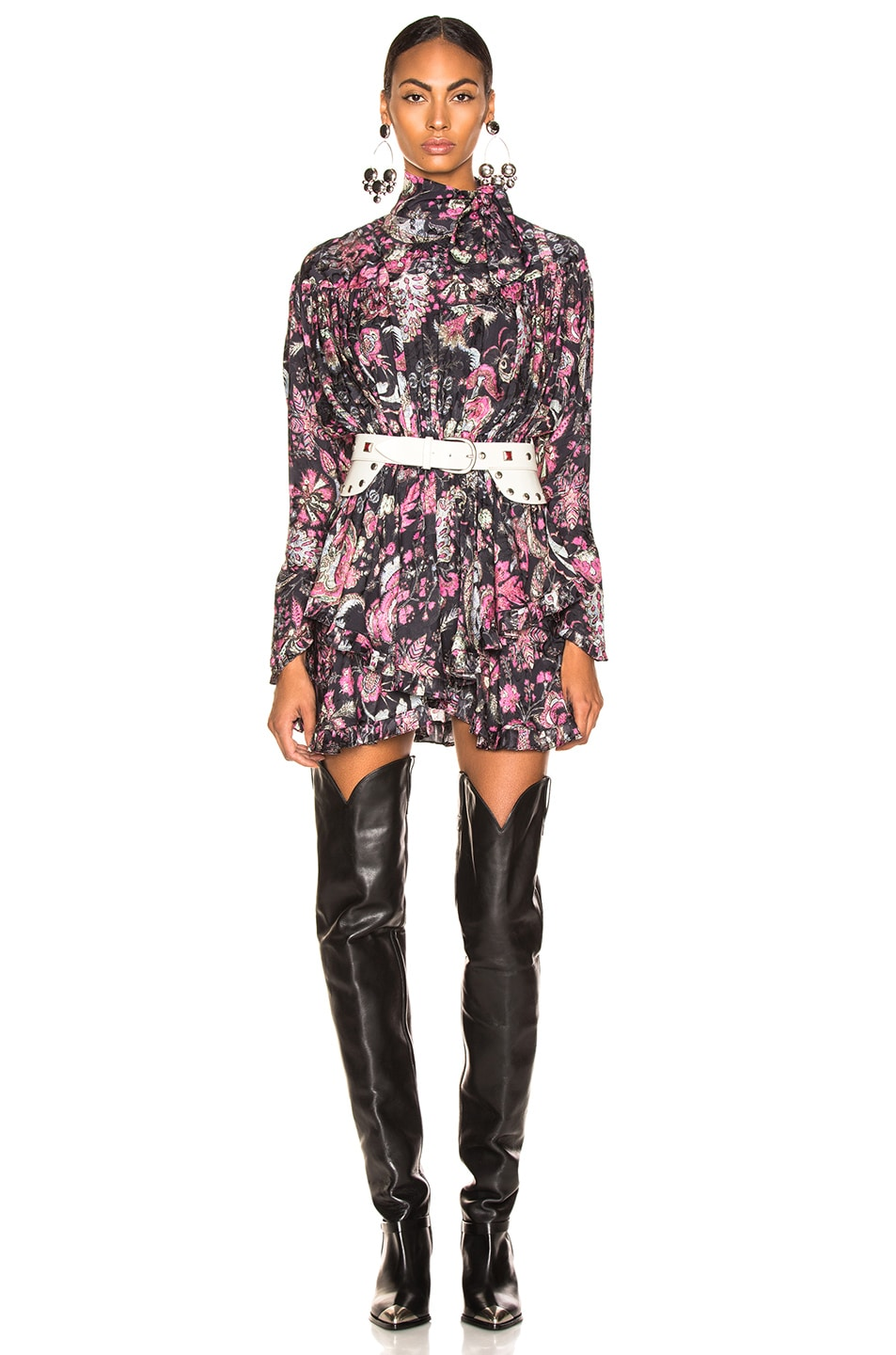 Image 1 of Isabel Marant Josephine Dress in Faded Black