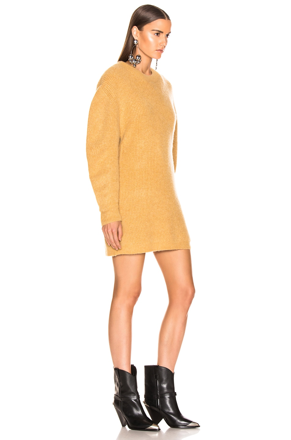 Image 2 of Isabel Marant Sigrid Dress in Dusty Yellow