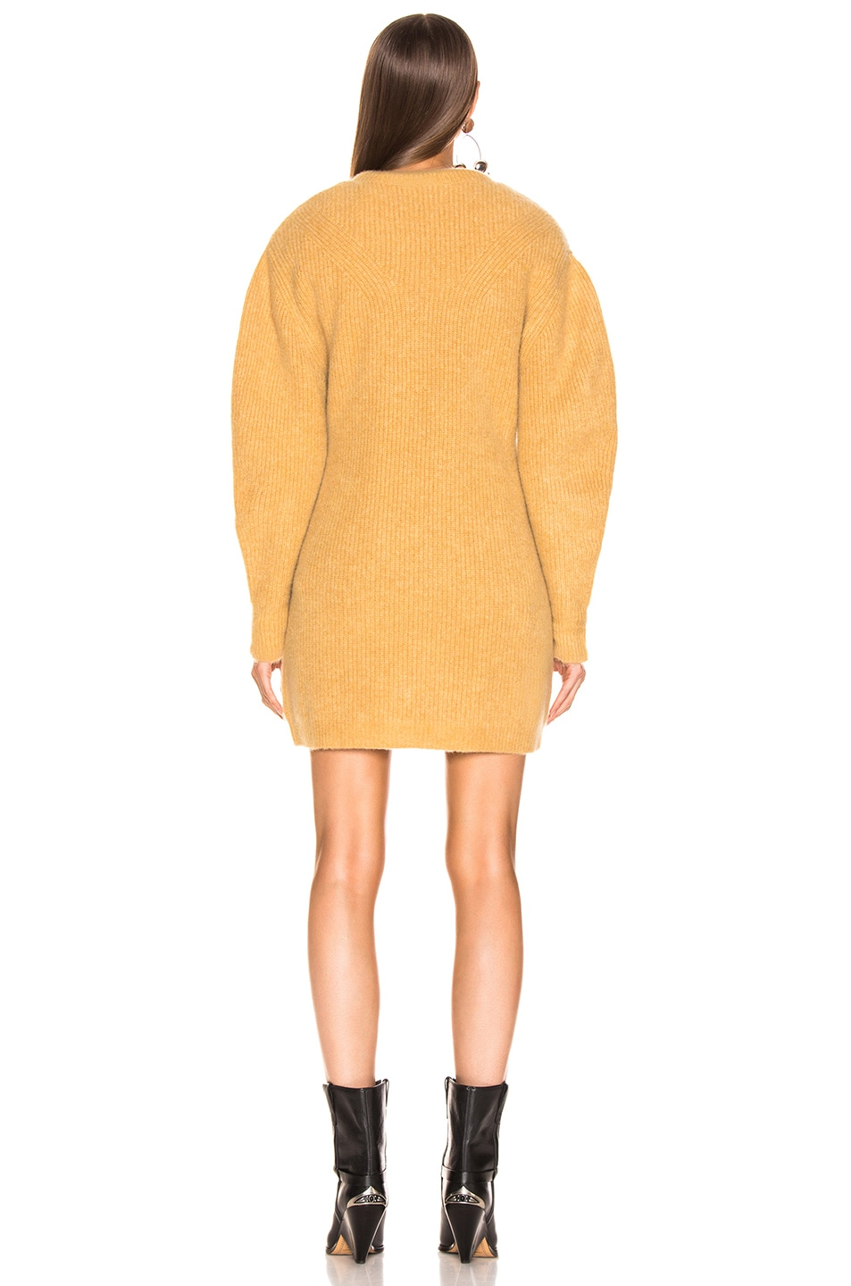 Image 3 of Isabel Marant Sigrid Dress in Dusty Yellow