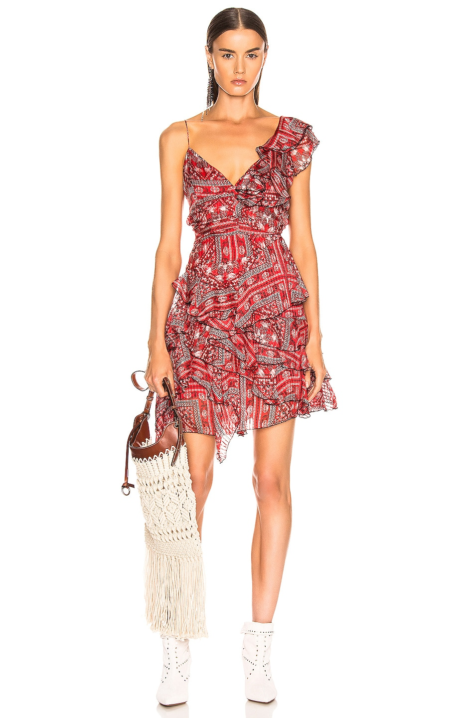 Image 1 of Isabel Marant Enta Dress in Red