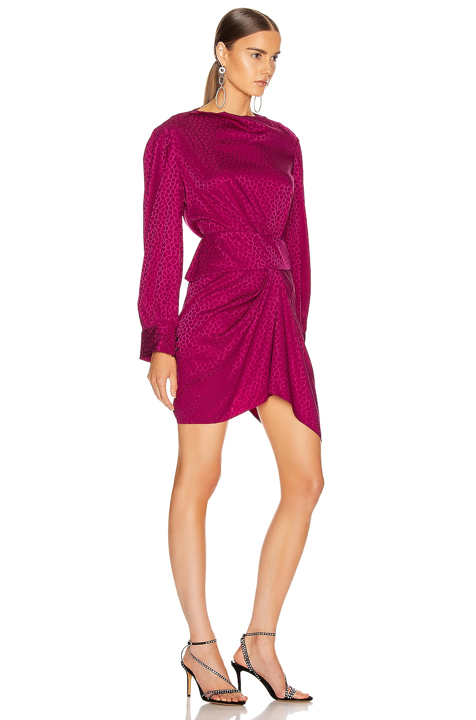 Image 2 of Isabel Marant Rachel Dress in Fuchsia