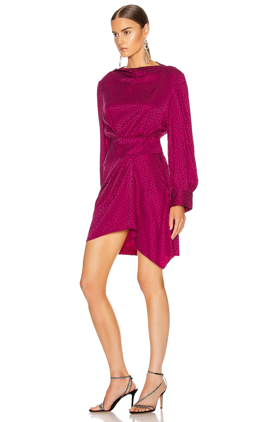 Image 3 of Isabel Marant Rachel Dress in Fuchsia