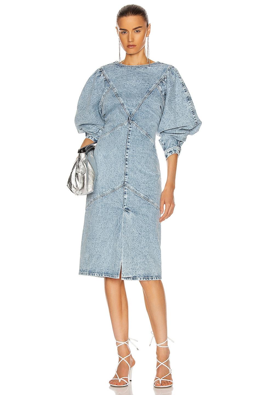 Image 1 of Isabel Marant Udrea Dress in Light Blue
