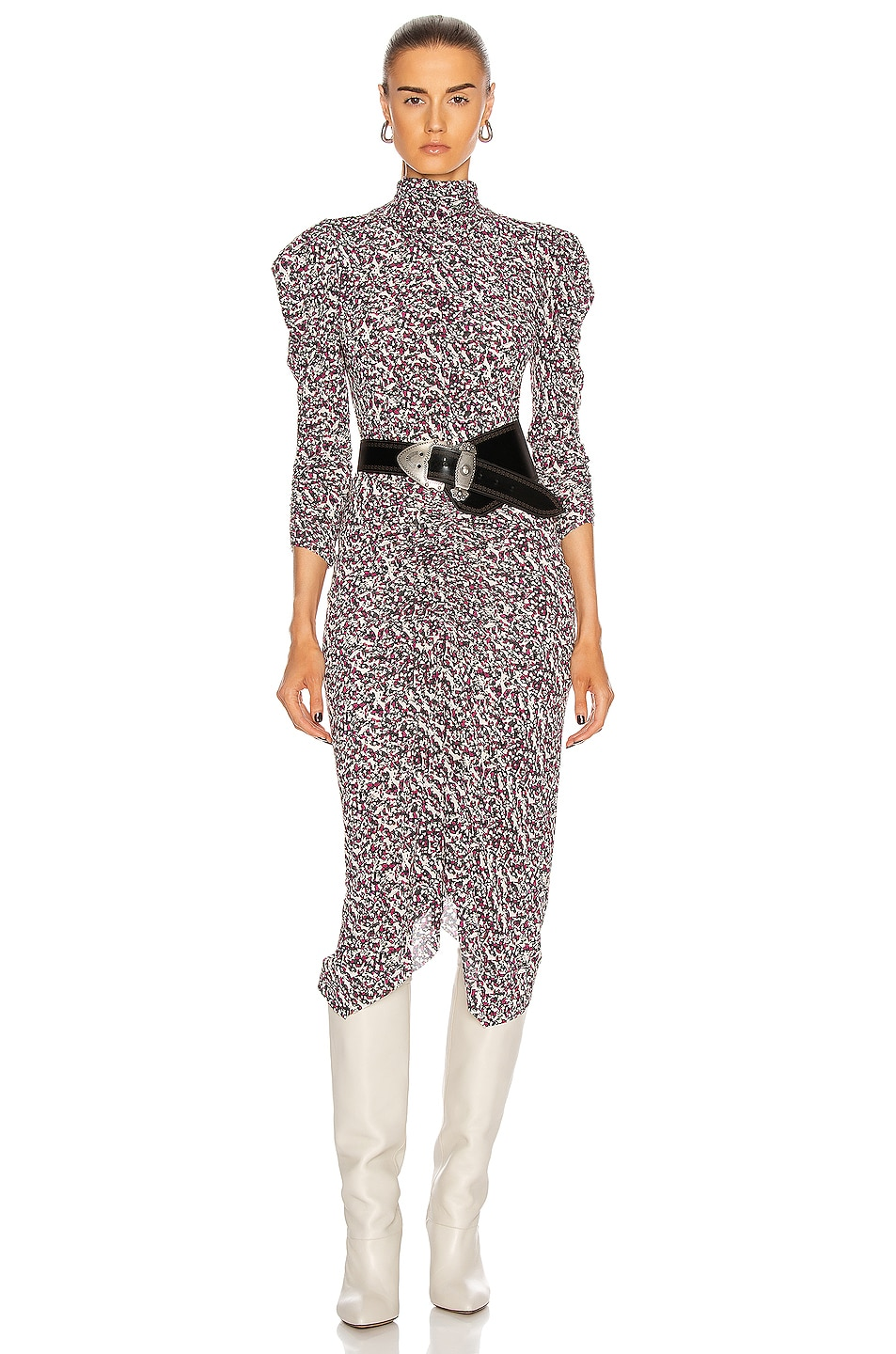Image 1 of Isabel Marant Tizya Dress in Black & Pink