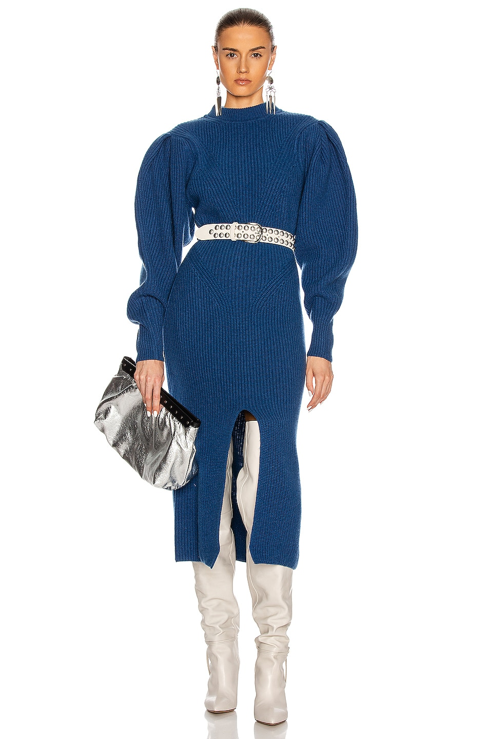 Image 1 of Isabel Marant Perrine Dress in Electric Blue