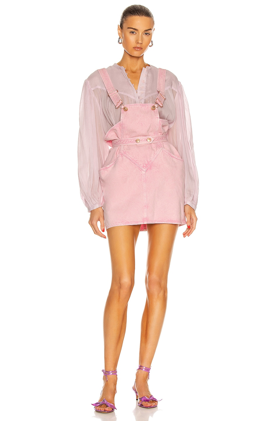 Image 1 of Isabel Marant Dolessa Dress in Light Pink