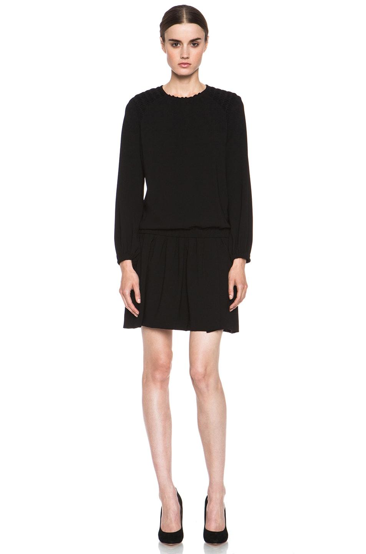 Image 1 of Isabel Marant Elwood Crepe Chic Dress in Black