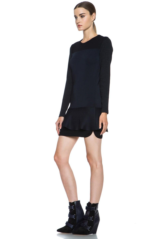 Image 2 of Isabel Marant Adams Wool-Blend Dress in Black & Midnight