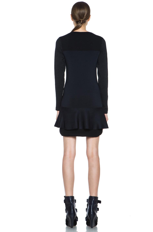 Image 4 of Isabel Marant Adams Wool-Blend Dress in Black & Midnight