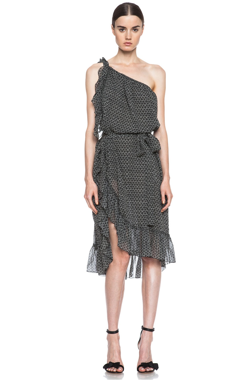 Image 1 of Isabel Marant Aiden Silk Dress in Black