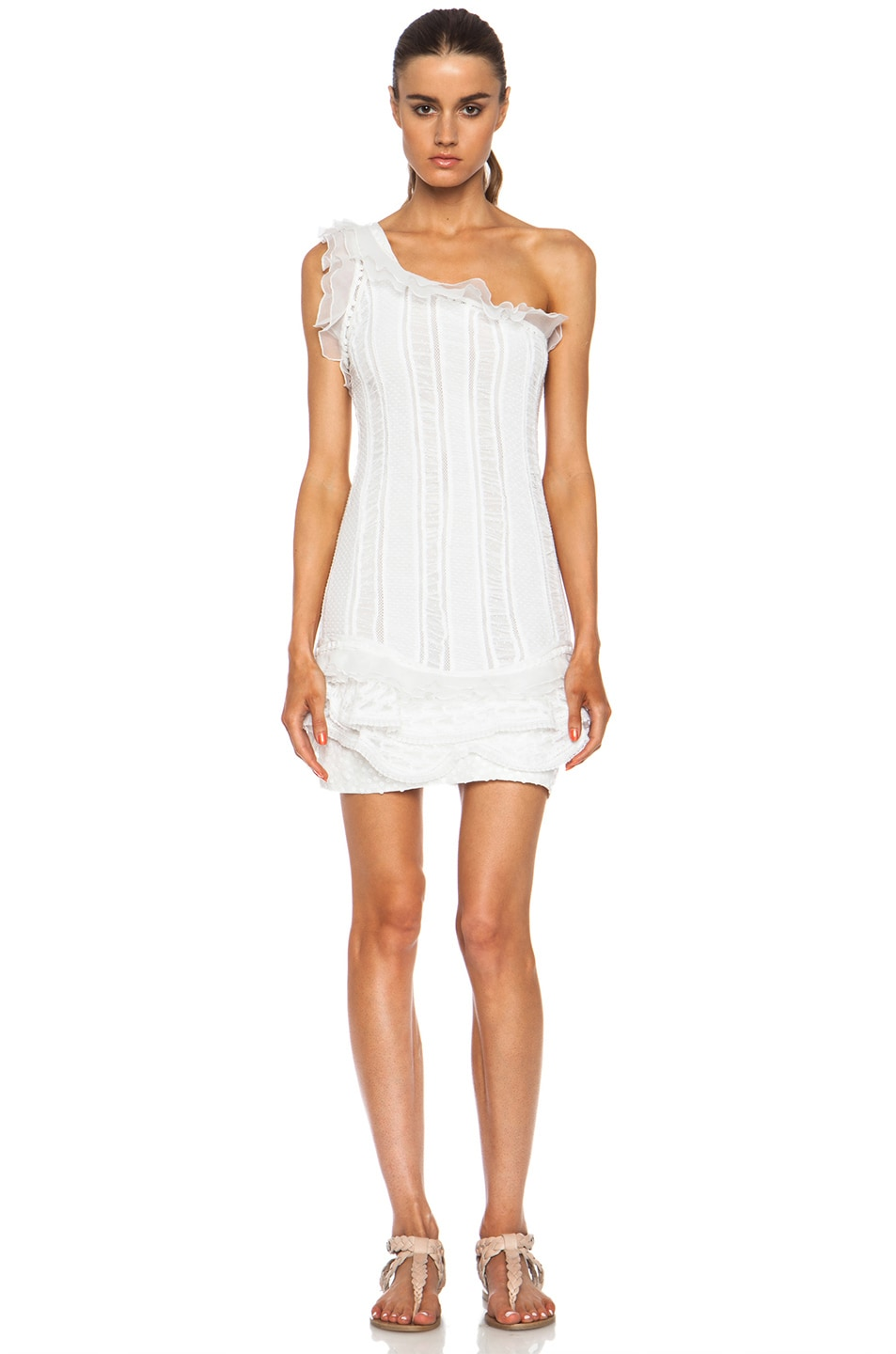 Image 1 of Isabel Marant Qimper Cotton Dress in White