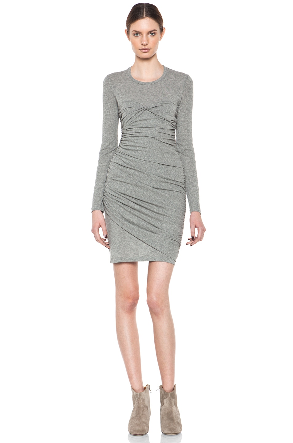 Image 1 of Isabel Marant Linqing Modern Crepe Jersey Dress in Grey