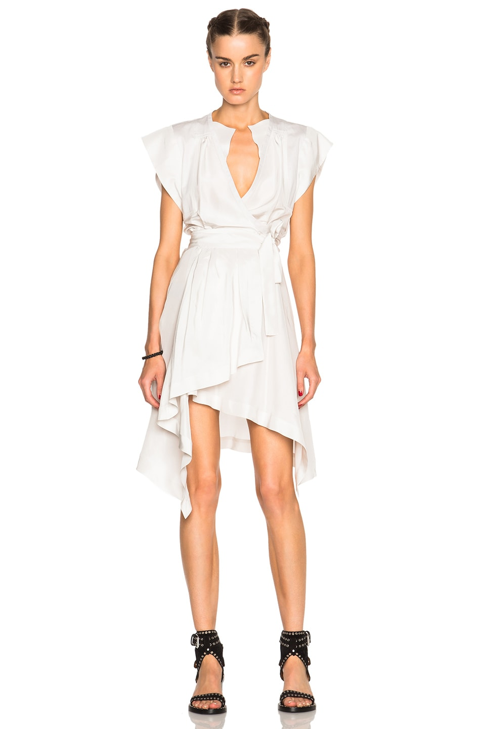 Image 1 of Isabel Marant Lief Silk Dress in Chalk