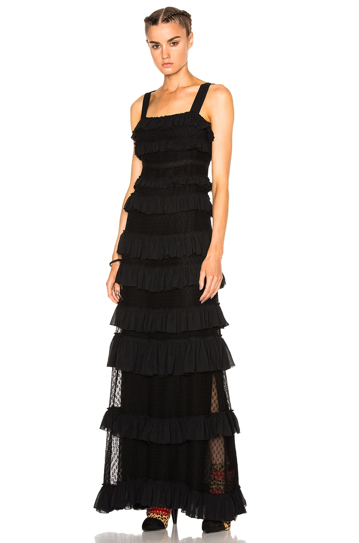 Image 1 of Isabel Marant Easy Evening Tuline Dress in Black