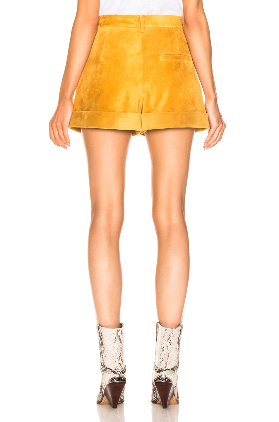 Image 3 of Isabel Marant Abot Suede Short in Amber Gold