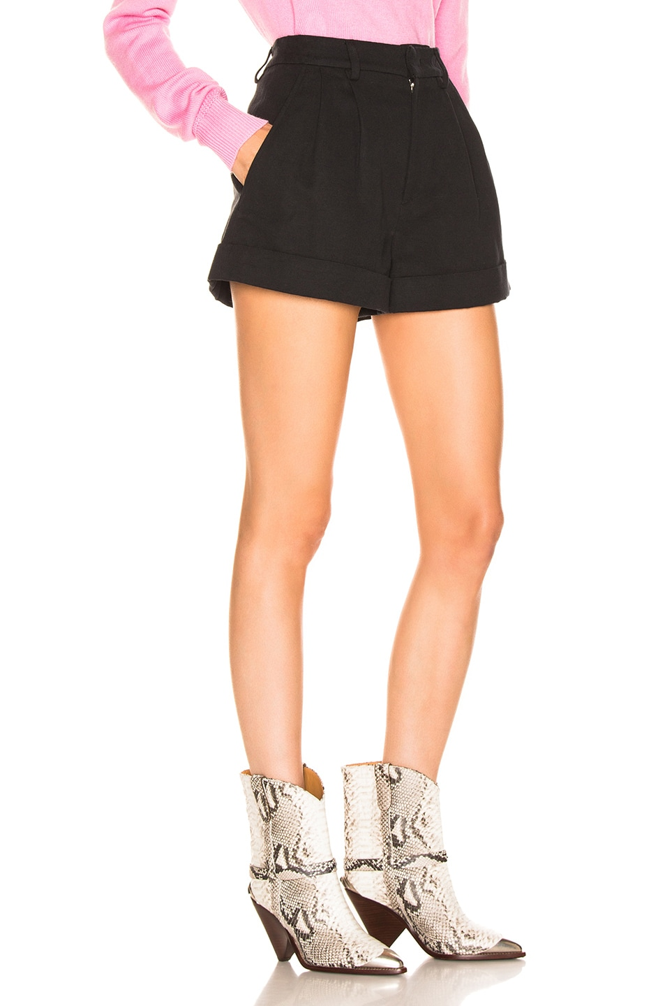 Image 2 of Isabel Marant Kab Short in Faded Black
