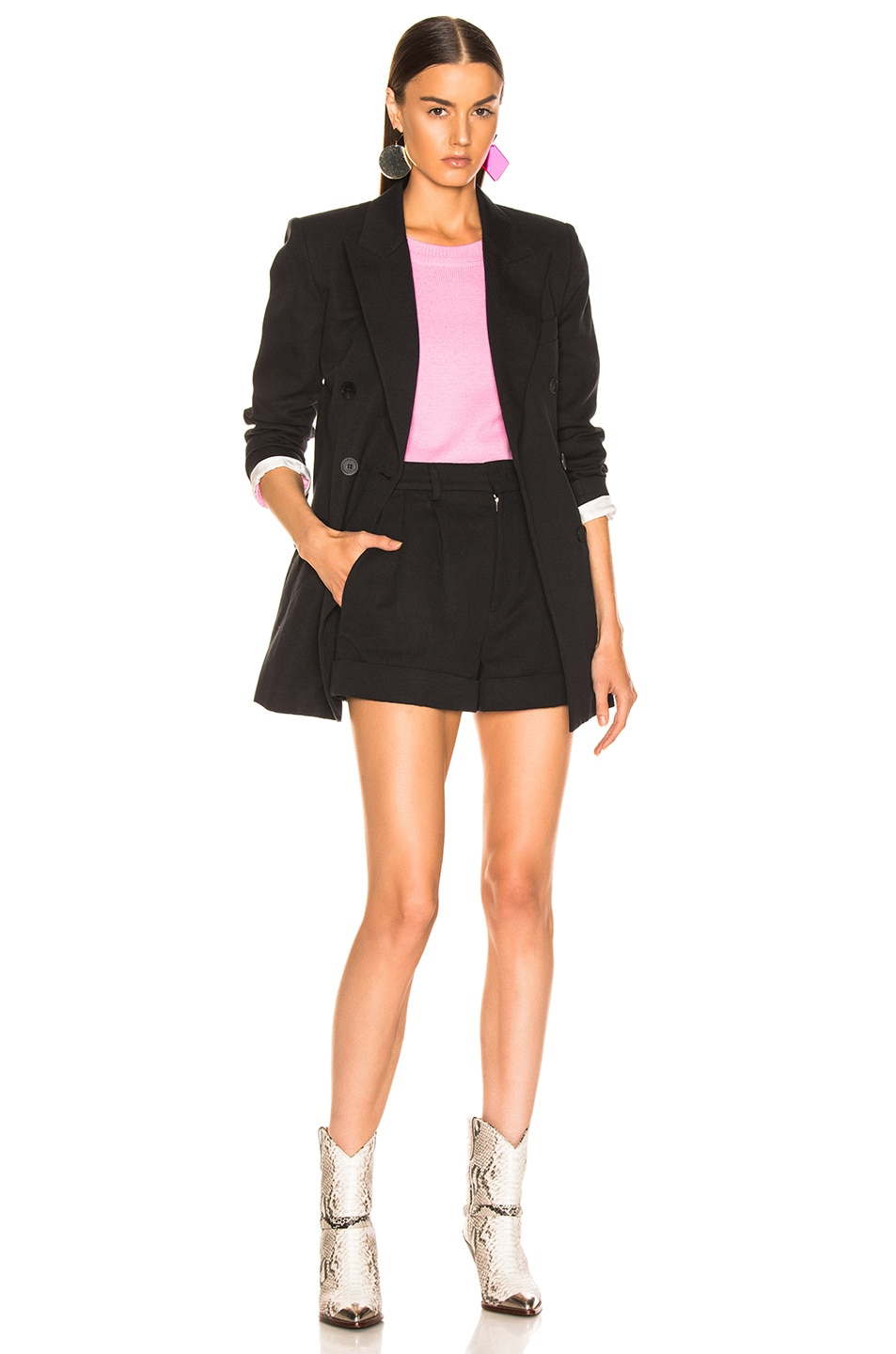 Image 4 of Isabel Marant Kab Short in Faded Black