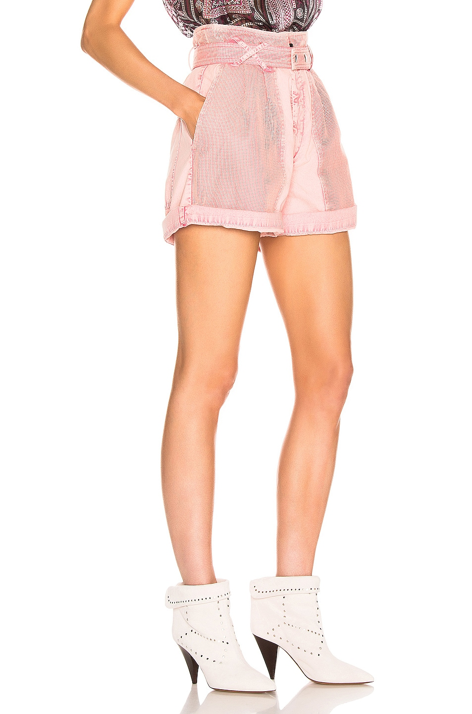Image 2 of Isabel Marant Twen Short in Light Pink