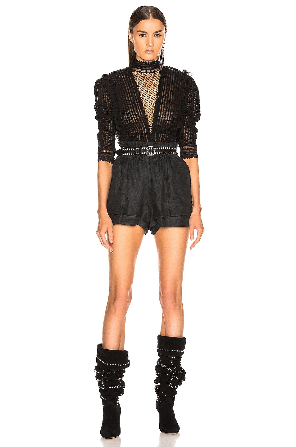 Image 4 of Isabel Marant Griddy Short in Faded Black