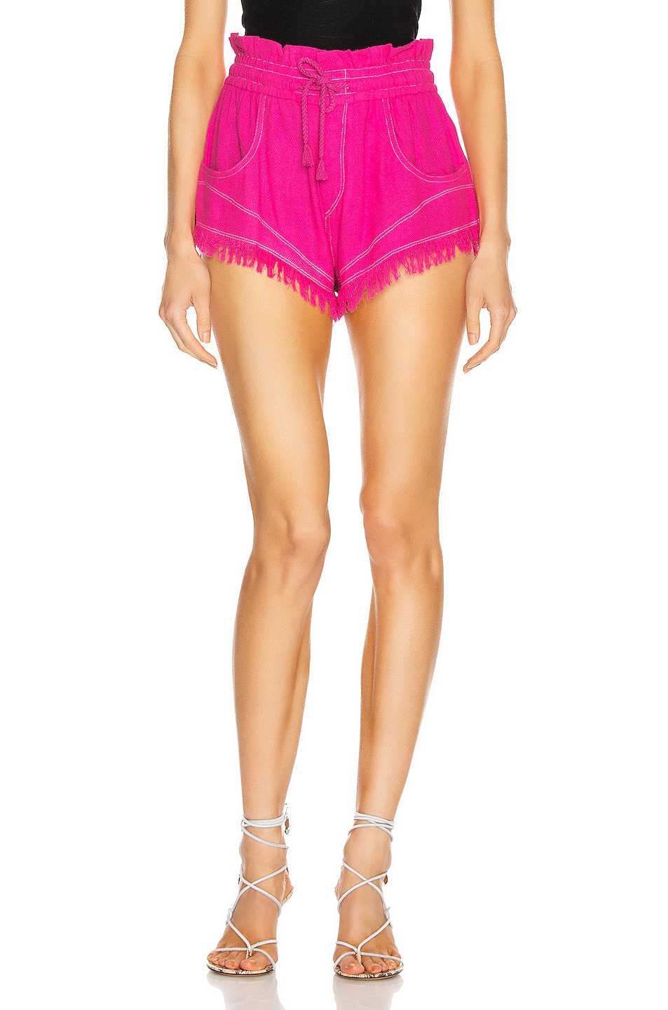 Image 1 of Isabel Marant Talapiz Short in Neon Pink