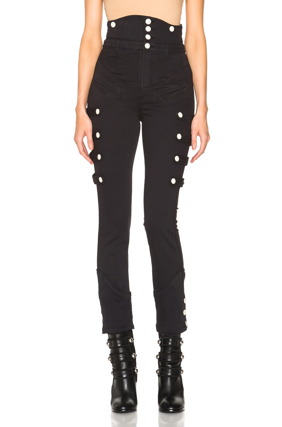 Image 1 of Isabel Marant Norm Brandebourg Jeans in Faded Black