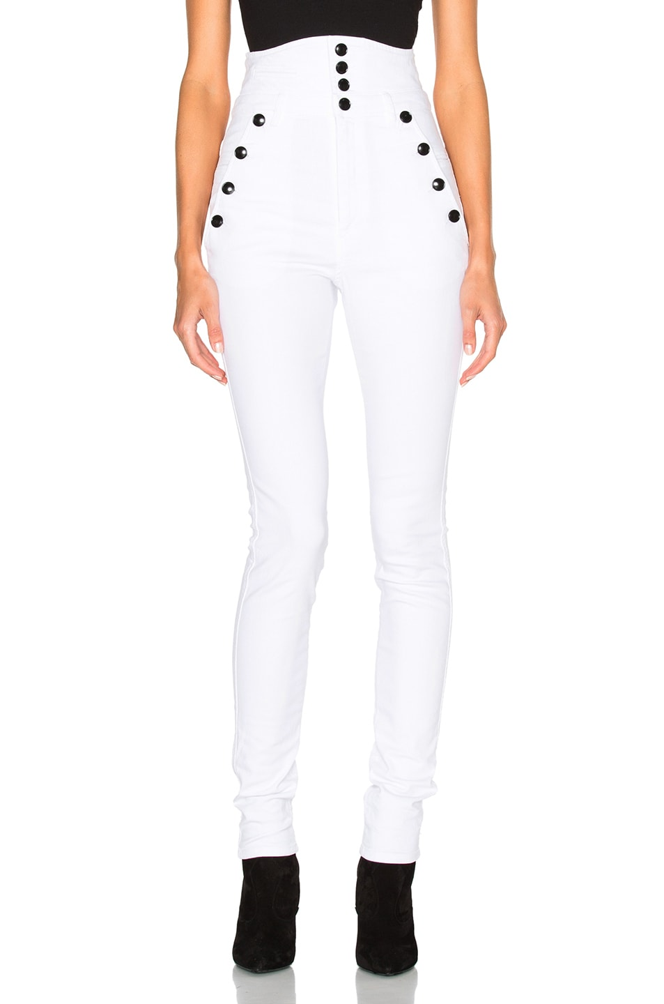 Image 1 of Isabel Marant Marvin High Waisted Jeans in White