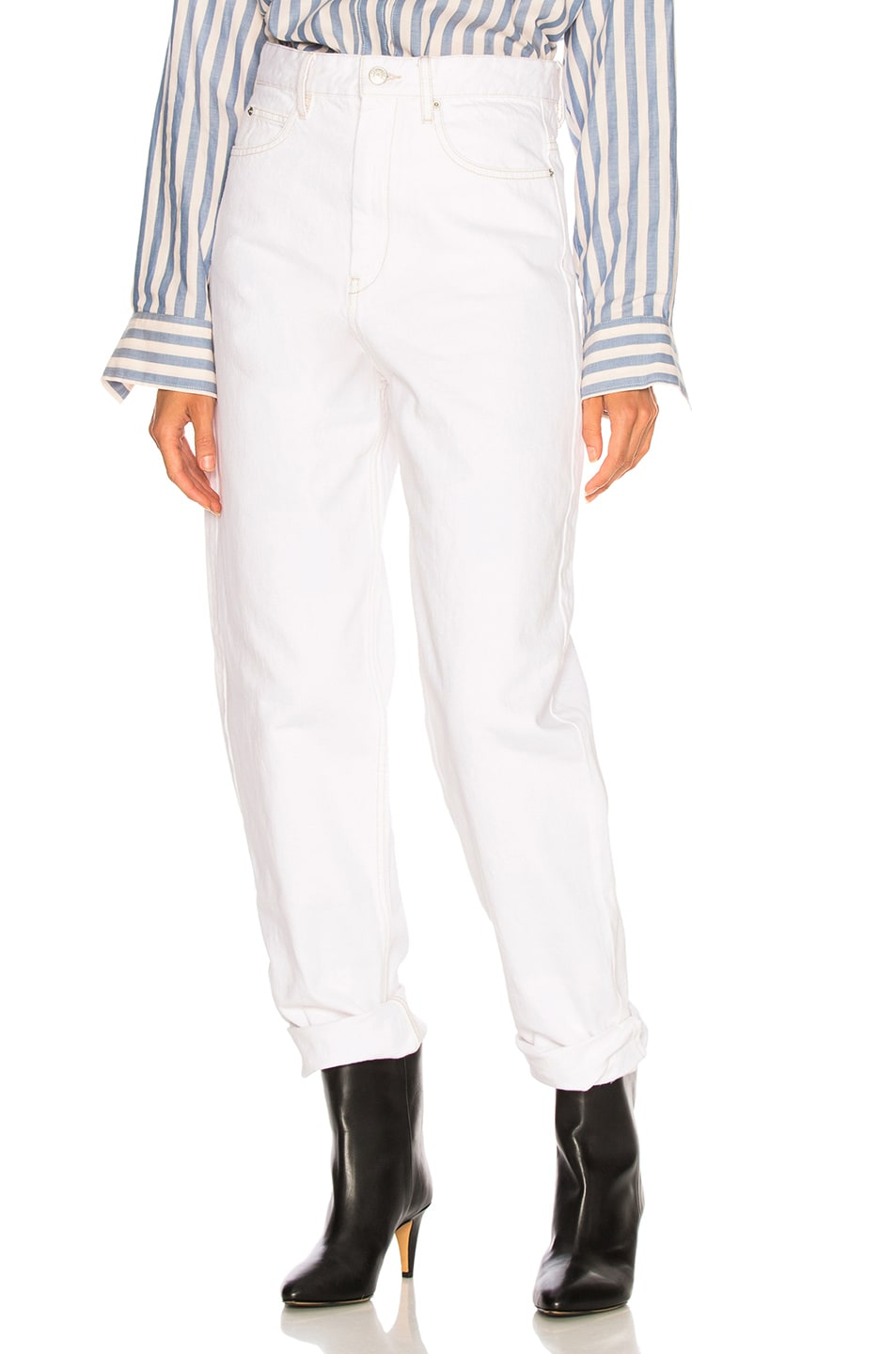 Image 1 of Isabel Marant Corsy Tapered in White