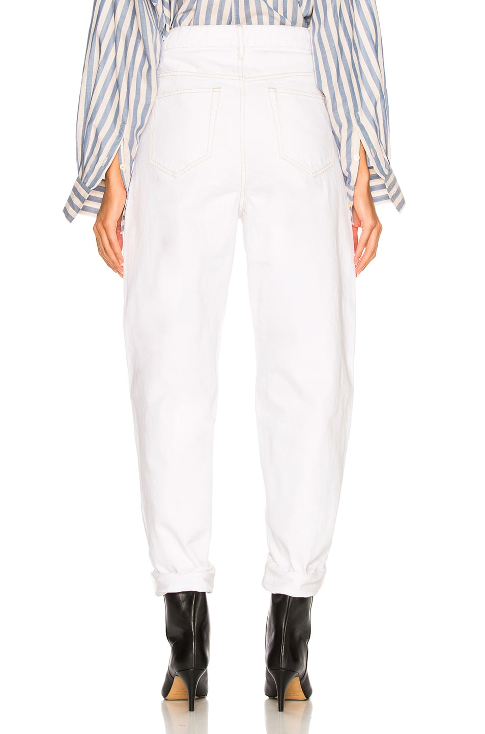 Image 4 of Isabel Marant Corsy Tapered in White