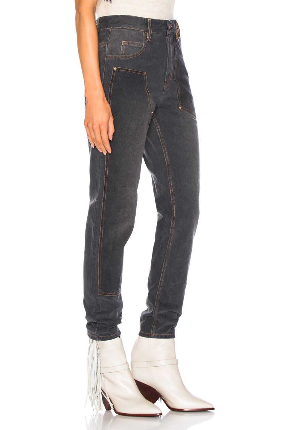 Image 2 of Isabel Marant Orrick Skinny in Faded Black
