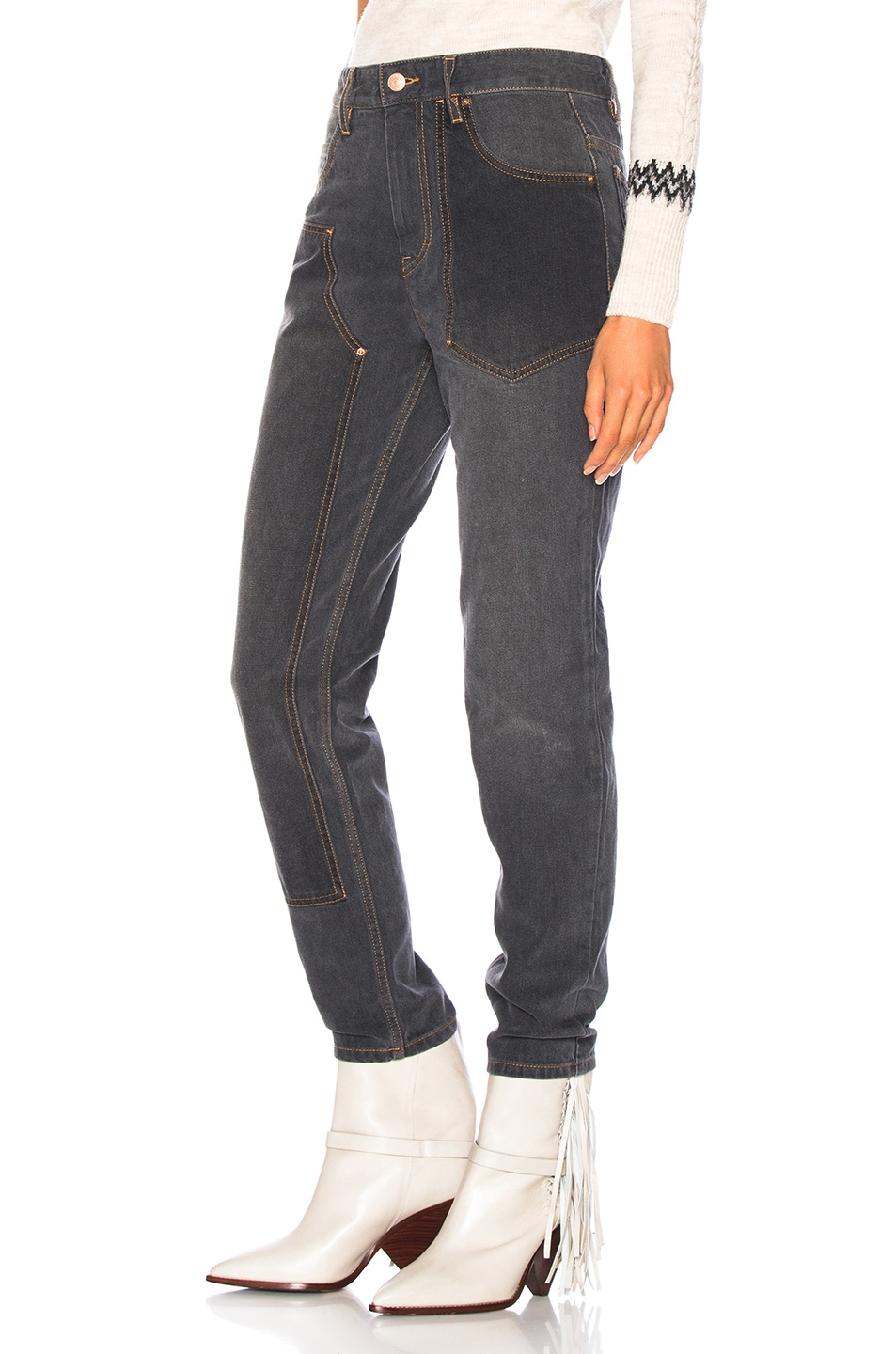 Image 3 of Isabel Marant Orrick Skinny in Faded Black