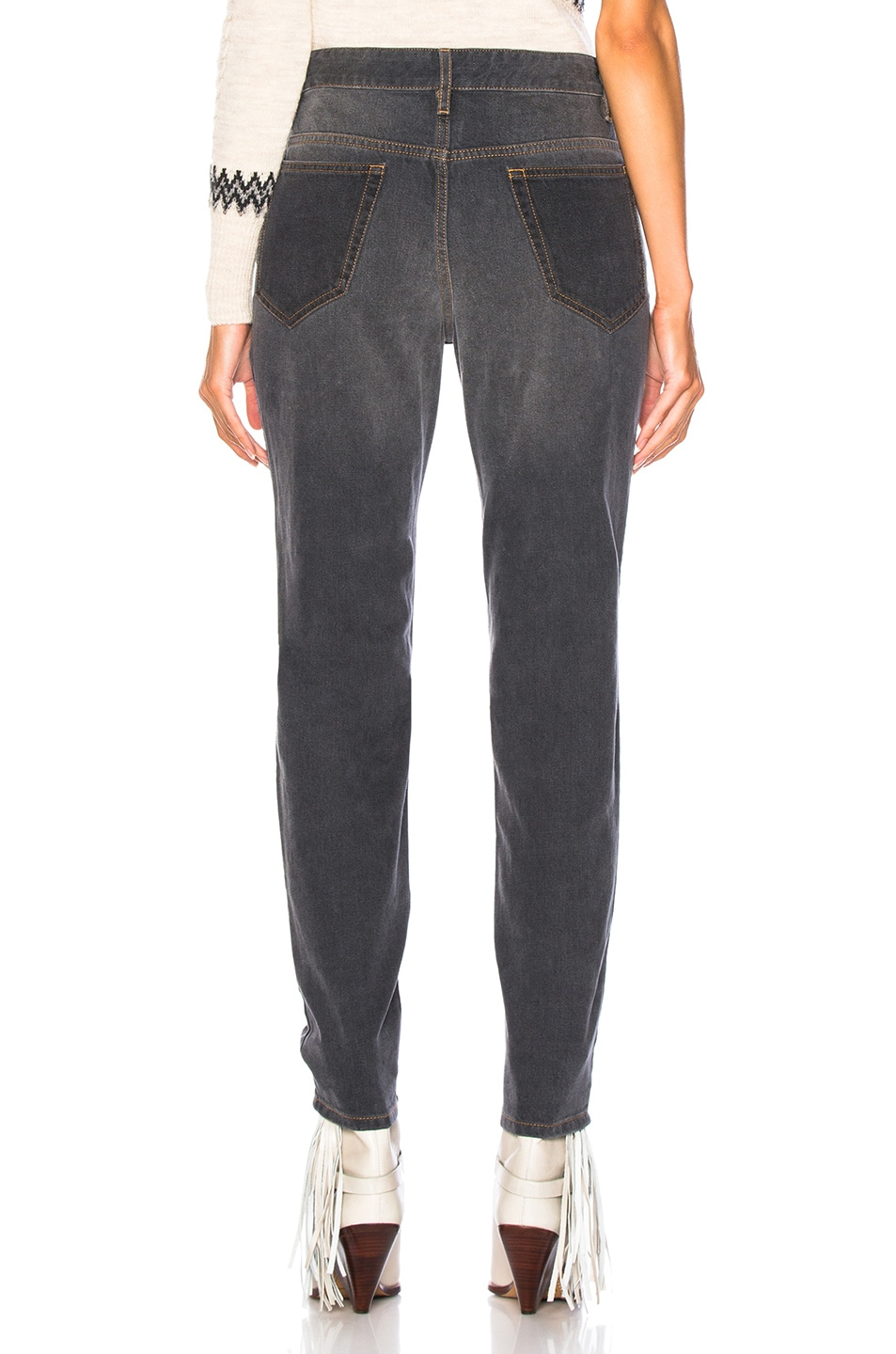 Image 4 of Isabel Marant Orrick Skinny in Faded Black
