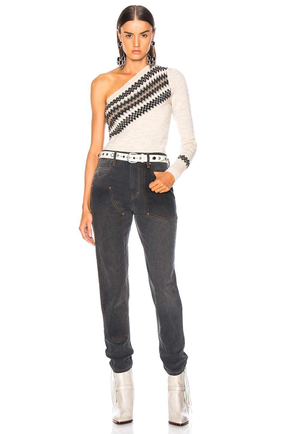 Image 5 of Isabel Marant Orrick Skinny in Faded Black