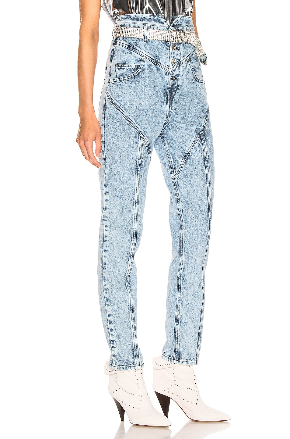 Image 2 of Isabel Marant Rei Trouser in Snow Blue