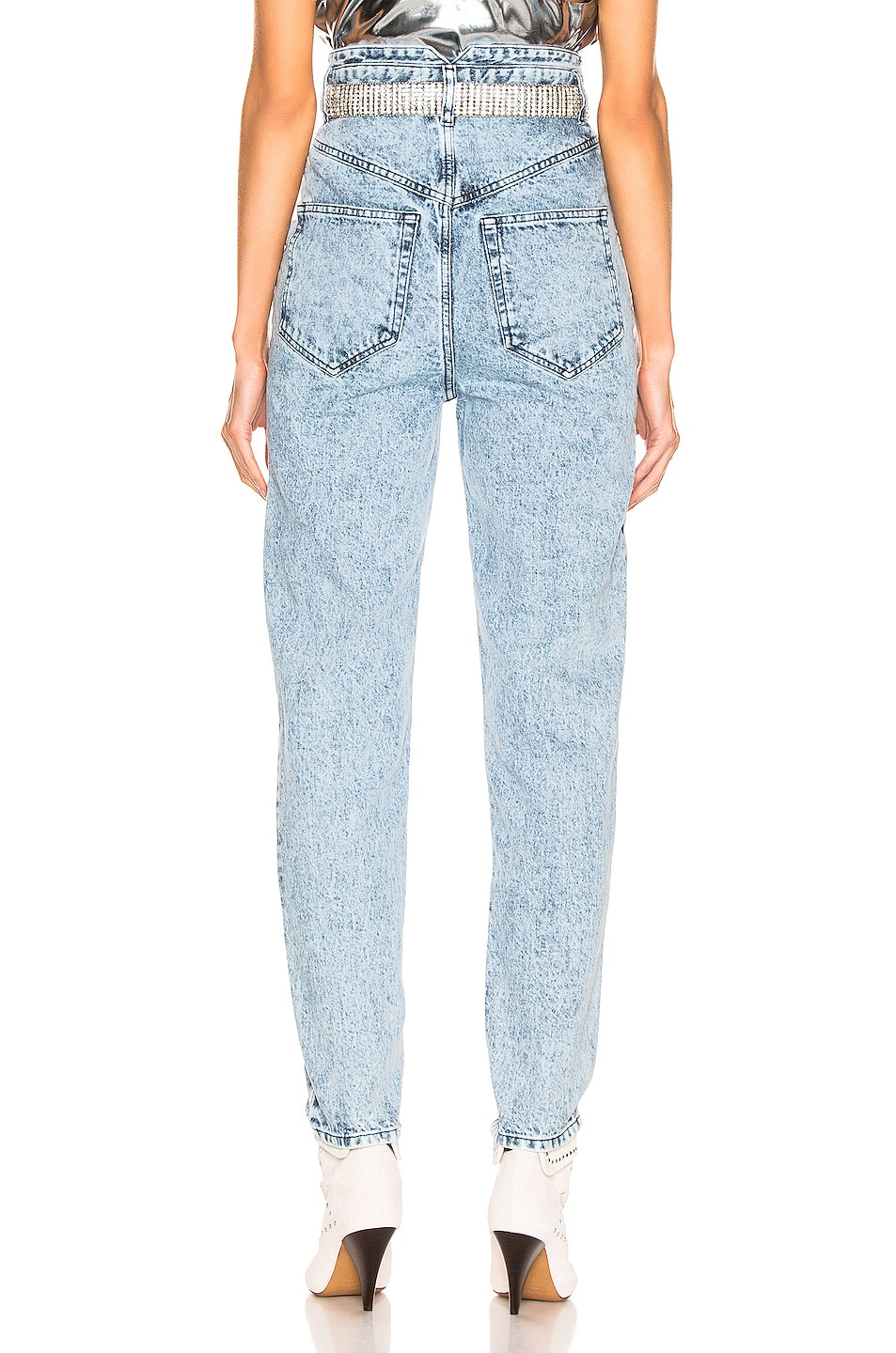 Image 3 of Isabel Marant Rei Trouser in Snow Blue