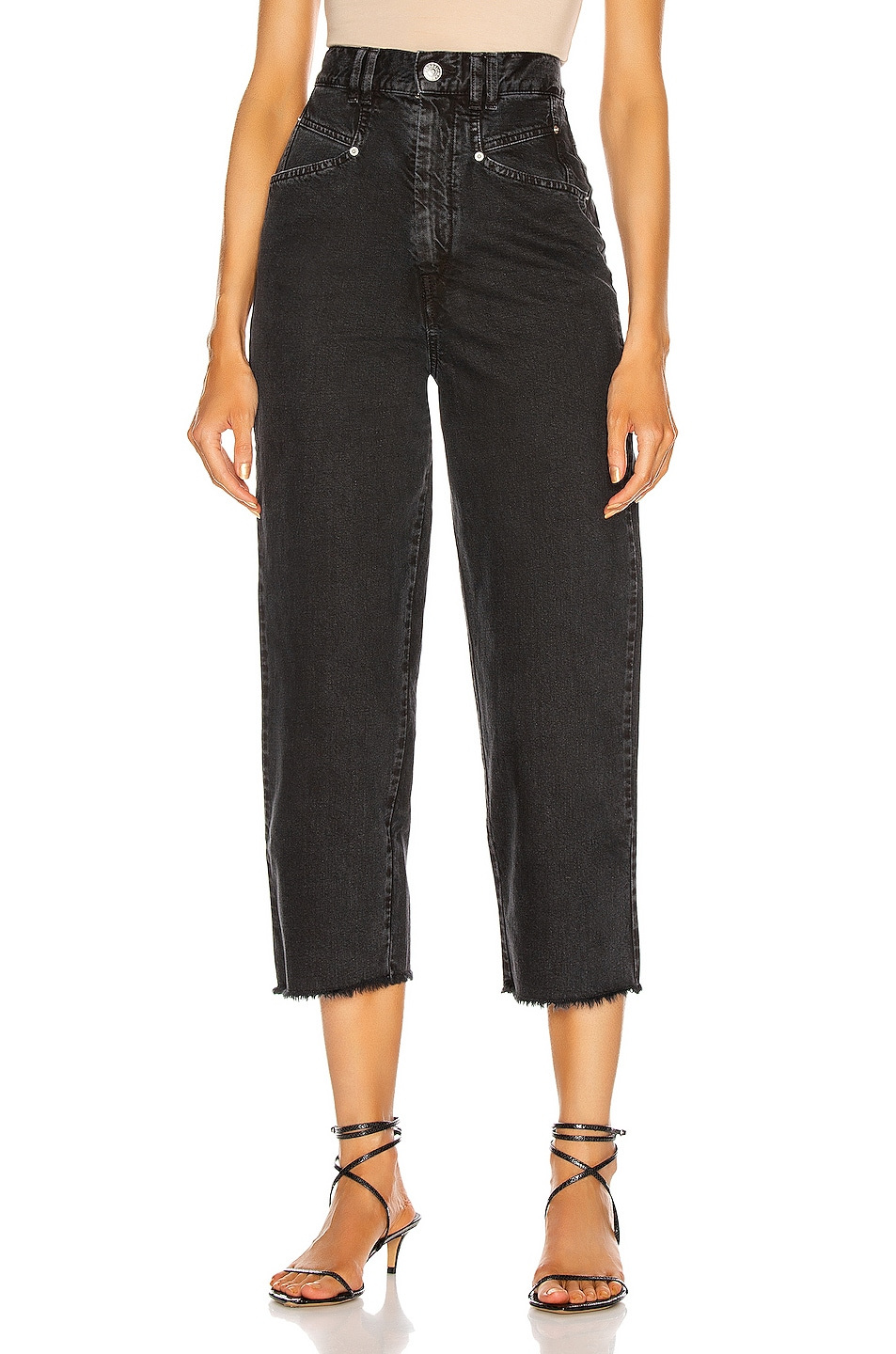Image 1 of Isabel Marant Naliska Pant in Faded Black