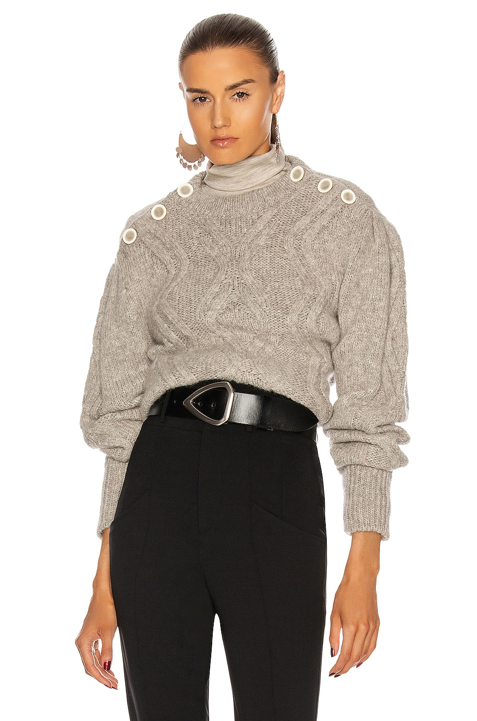 Image 1 of Isabel Marant Devlyn Sweater in Light Grey