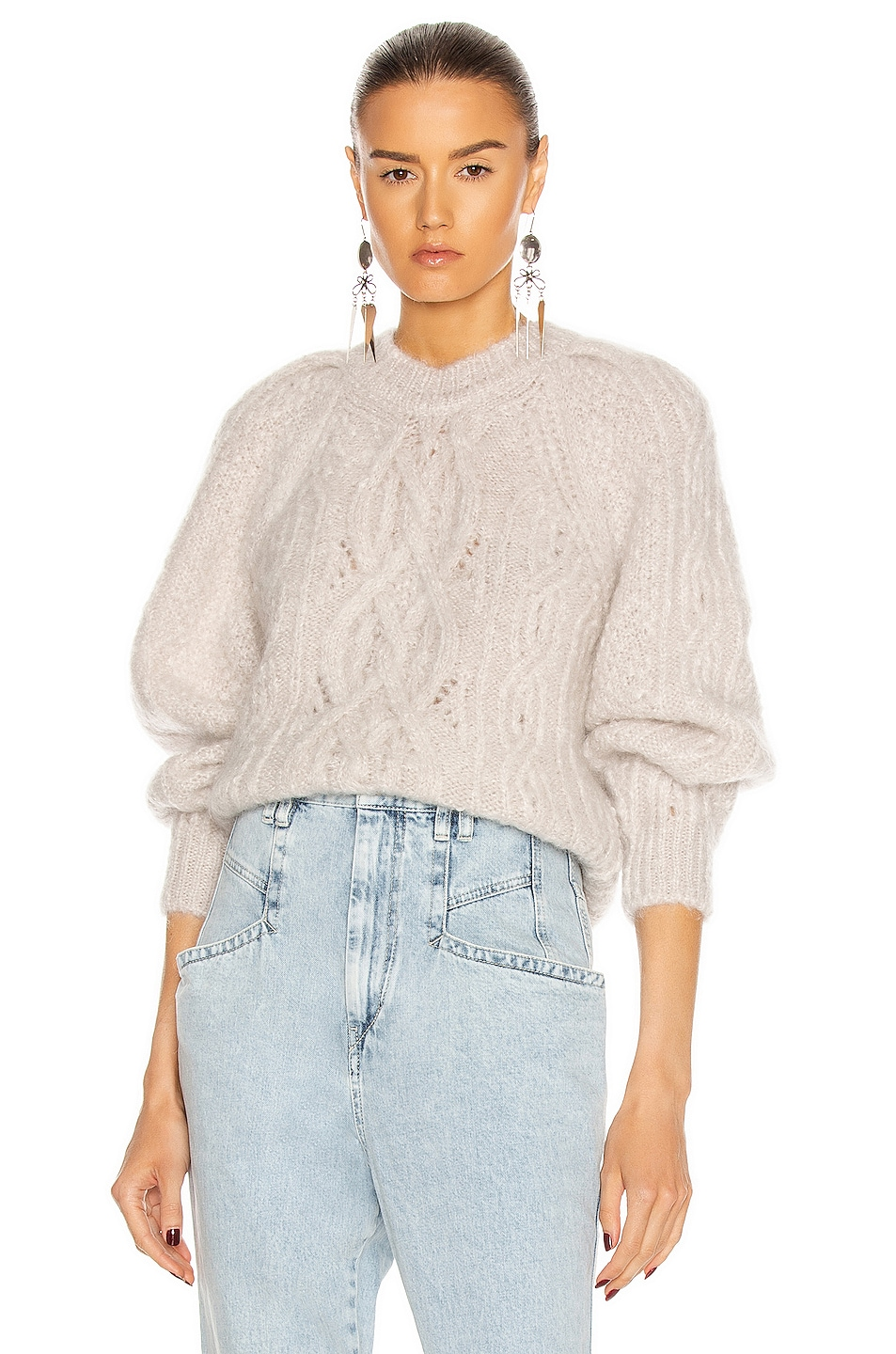 Image 1 of Isabel Marant Esmee Sweater in Chalk