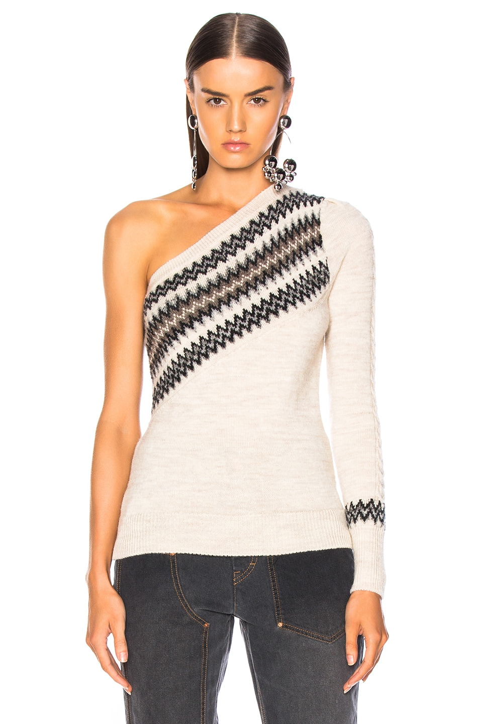 Image 2 of Isabel Marant Dulcie Sweater in Ecru