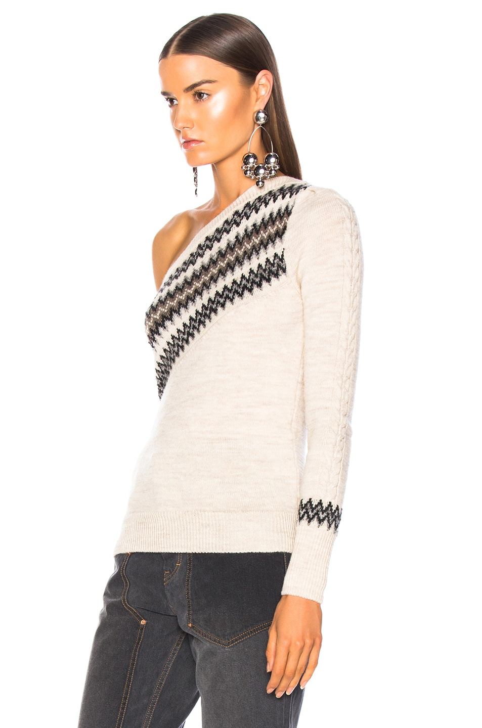 Image 4 of Isabel Marant Dulcie Sweater in Ecru