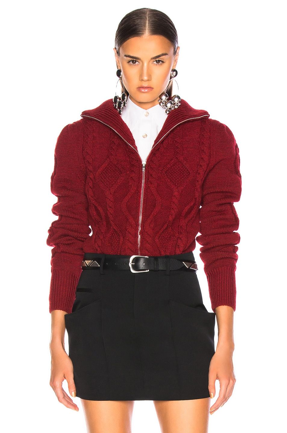 Image 1 of Isabel Marant Betsy Cardigan in Red
