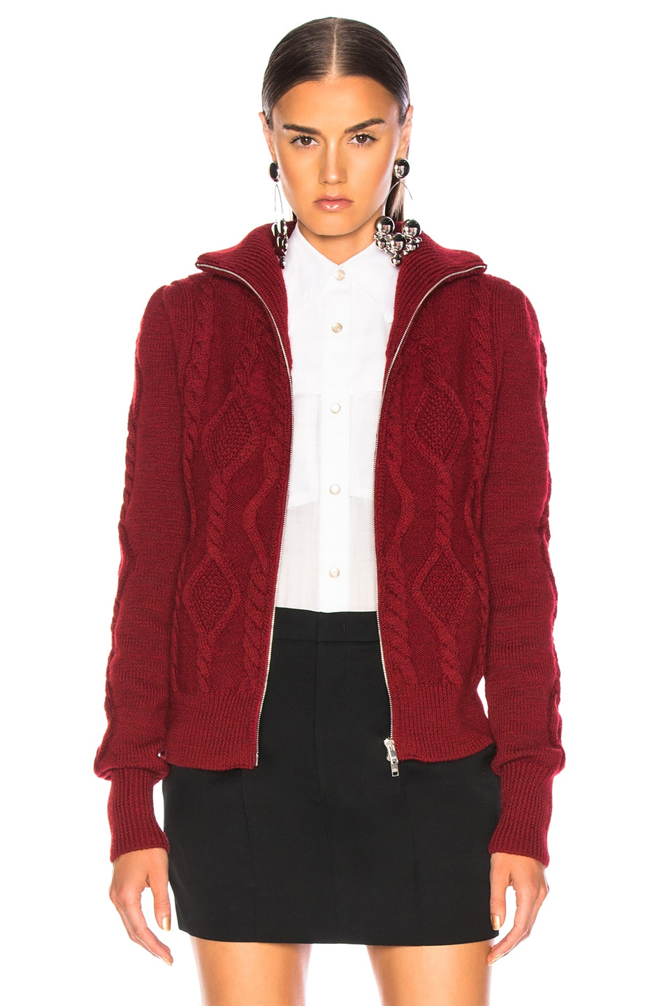 Image 2 of Isabel Marant Betsy Cardigan in Red