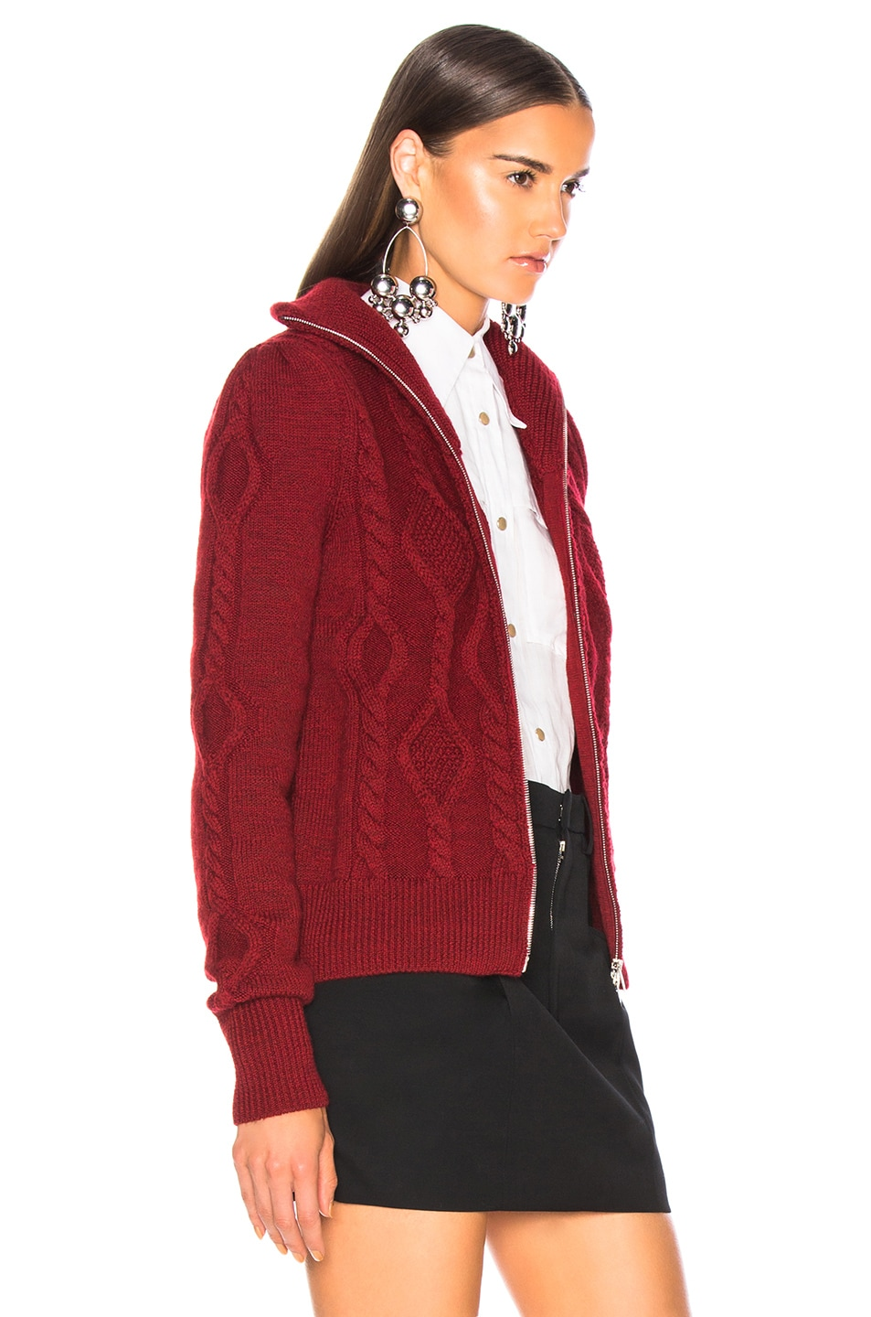 Image 3 of Isabel Marant Betsy Cardigan in Red