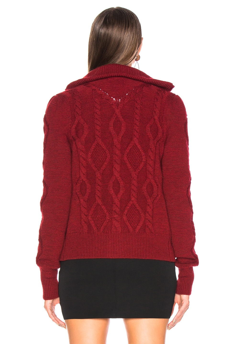 Image 4 of Isabel Marant Betsy Cardigan in Red
