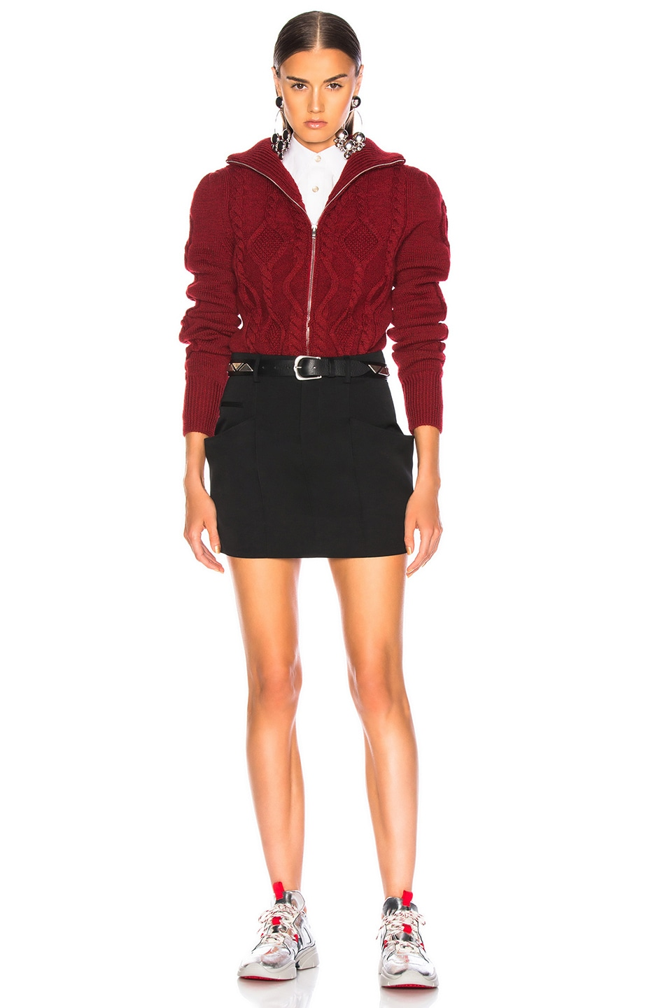 Image 5 of Isabel Marant Betsy Cardigan in Red