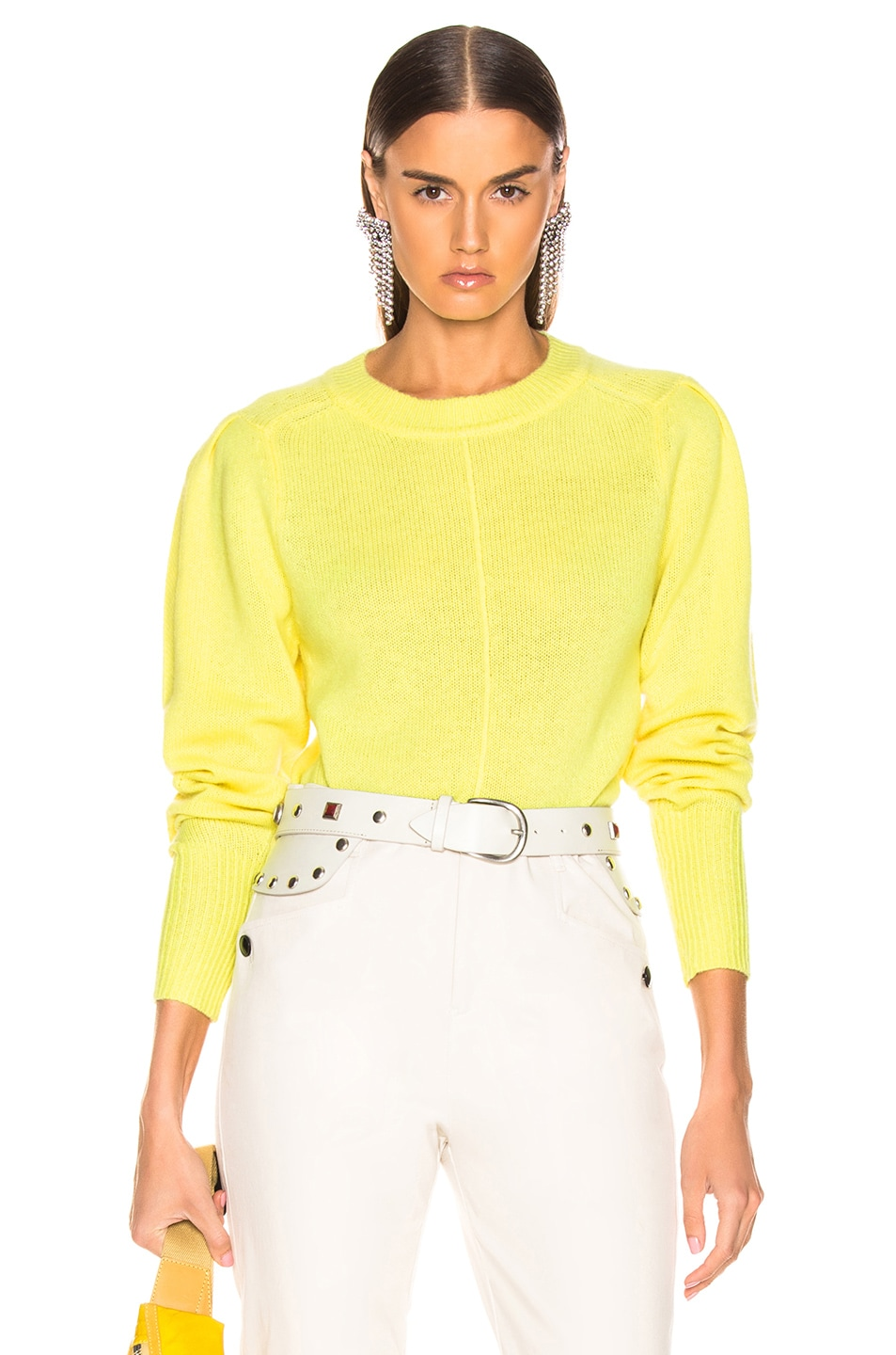 Image 1 of Isabel Marant Conway Sweater in Light Yellow