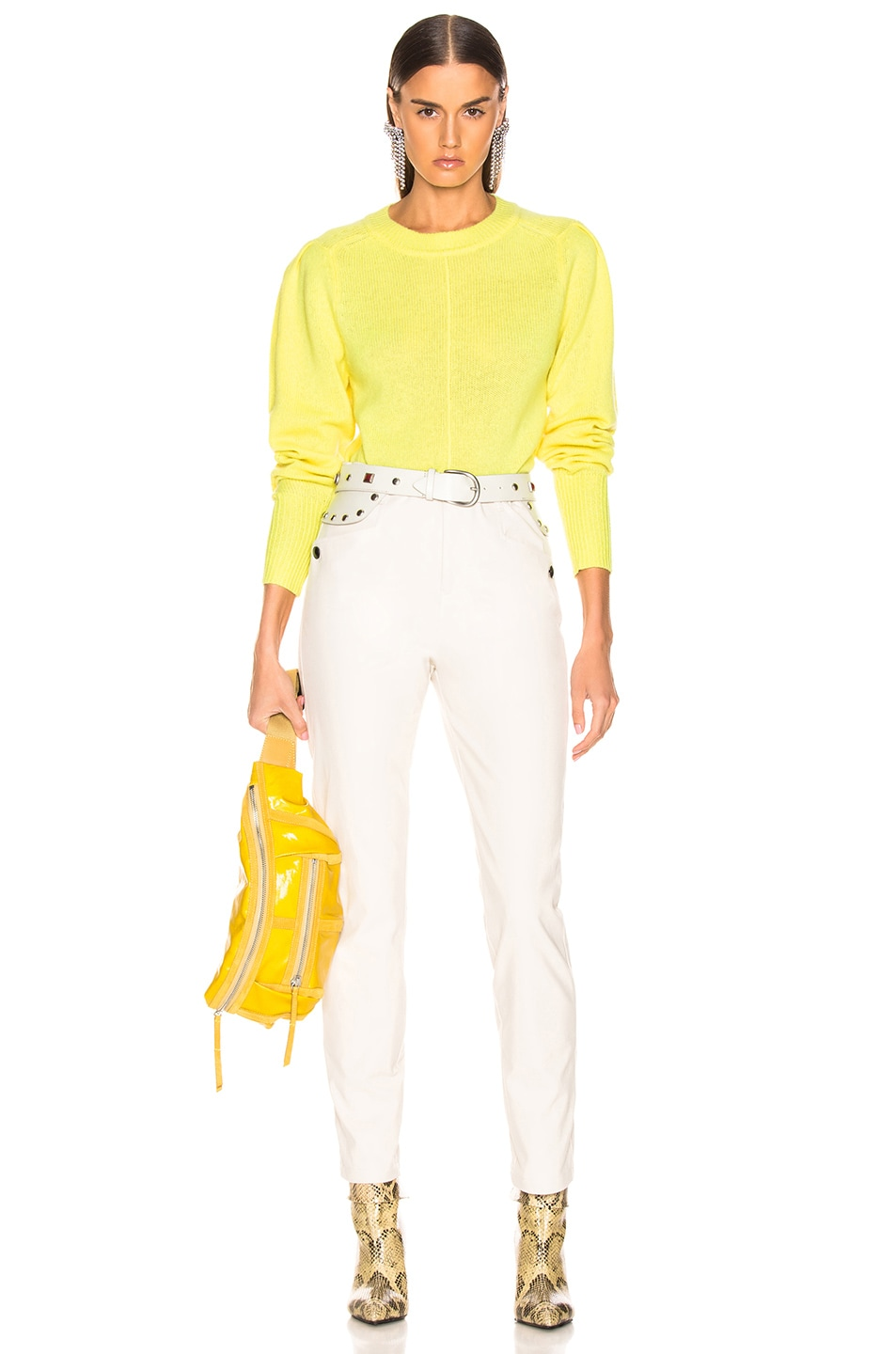 Image 4 of Isabel Marant Conway Sweater in Light Yellow
