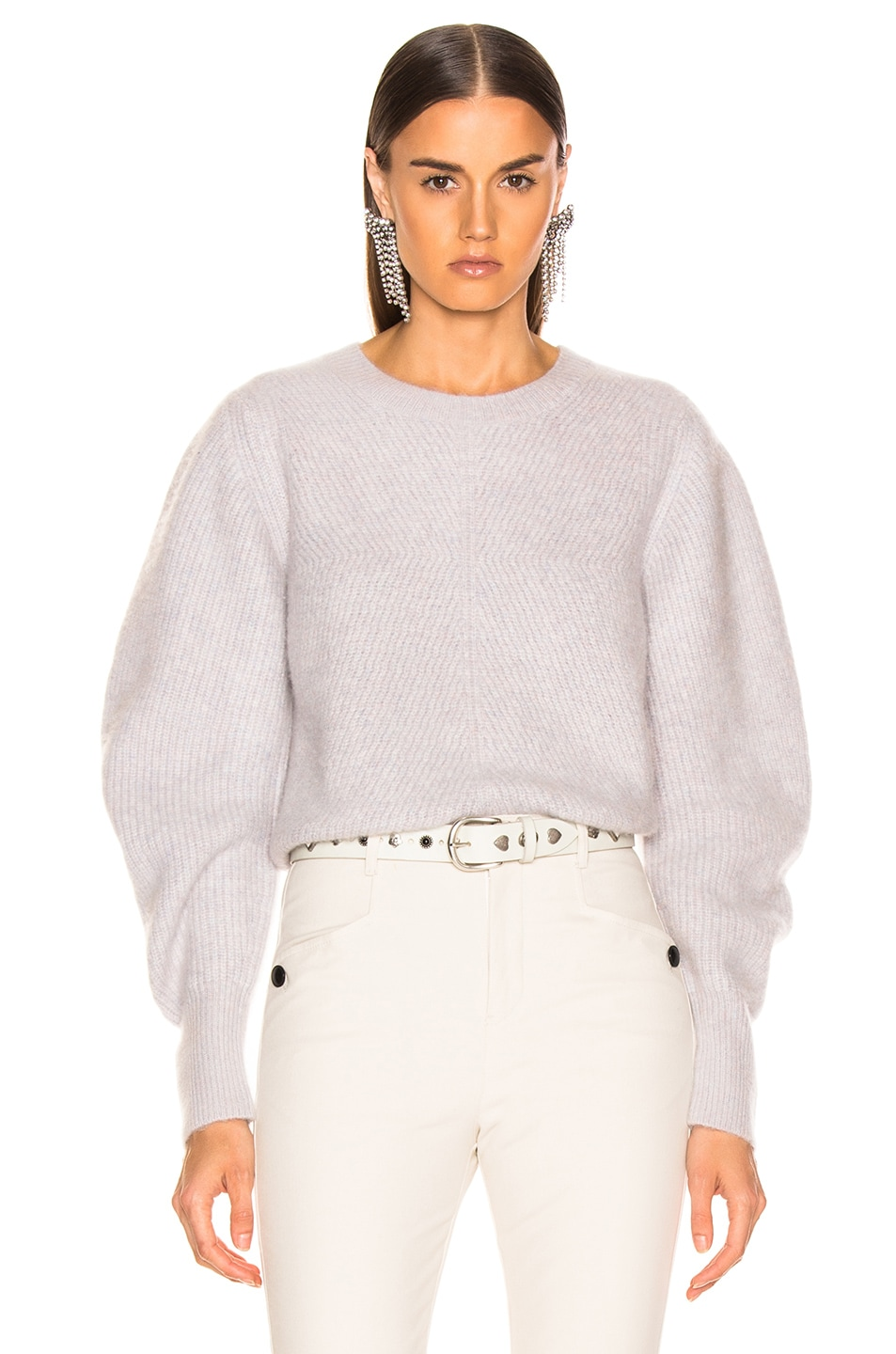 Image 1 of Isabel Marant Swinton Sweater in Greyish Pink